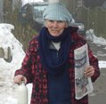 'JAN THE MILK' BATTLING THROUGH THE BLIZZARDS